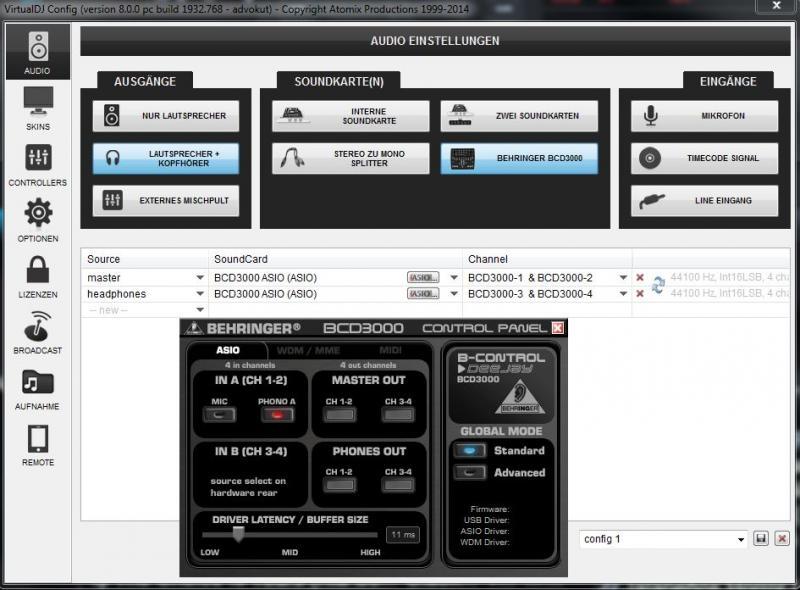 Virtual dj software asio mode and traktor a6 for timecode: