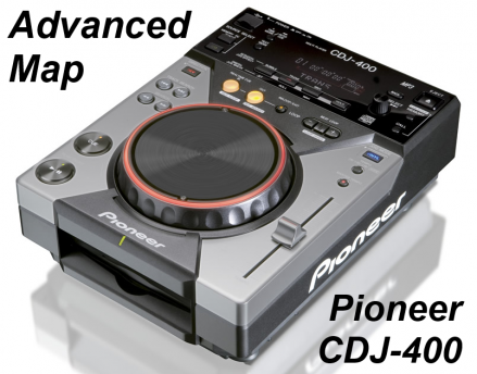 Pioneer CDJ-400 Advanced Map Image