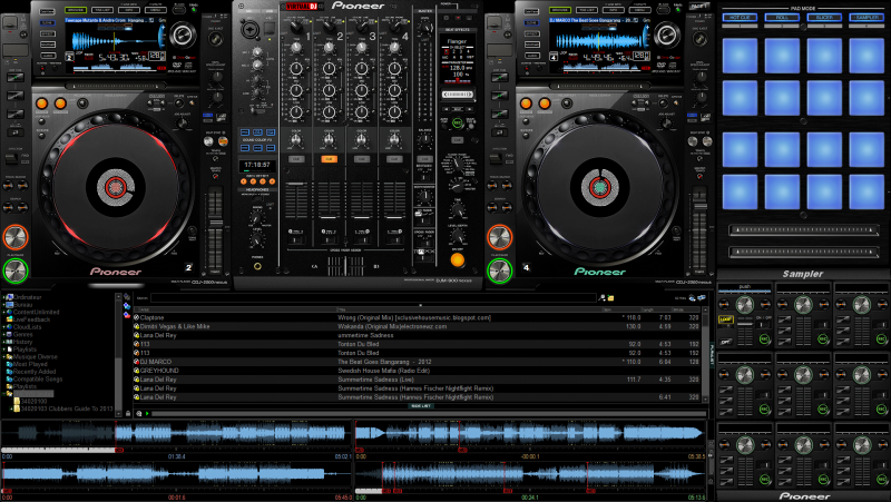 Virtual dj software skin pioneer cdj2000 nexus + djm900 nexus.