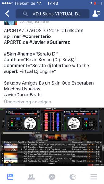 DJ Software - VirtualDJ - Searching SKIN like Serato
