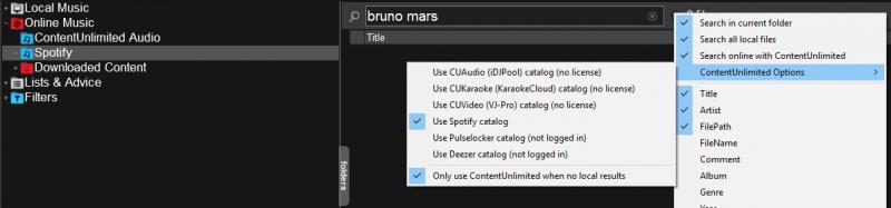 DJ Software - VirtualDJ - Spotify search not working?